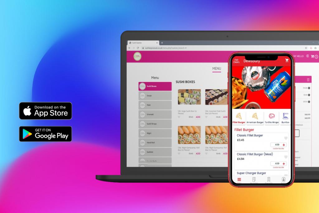 online food ordering website and app